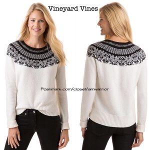 Vineyard Vines nordic fair isle sweater